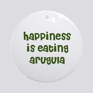 happiness is eating arugula Ornament (Round)
