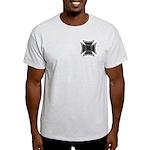 Chrome Flame Biker Cross Light T-Shirt