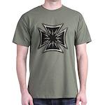 Chrome Flame Biker Cross Dark T-Shirt