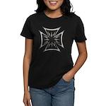 Chrome Flame Biker Cross Women's Dark T-Shirt