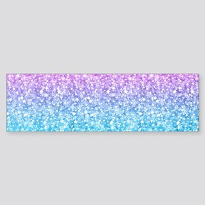 Colorful Retro Glitter And Sparkles Bumper Sticker