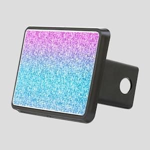 Colorful Retro Glitter And Sparkles Hitch Cover