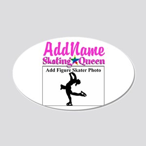 GORGEOUS SKATER 20x12 Oval Wall Decal