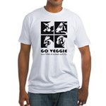 Go Veggie Fitted T-Shirt