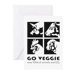 Go Veggie Greeting Cards (Pk of 10)