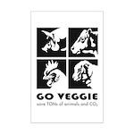 Go Veggie Mini Poster Print