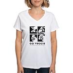 Go Veggie Women's V-Neck T-Shirt