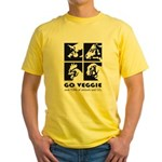 Go Veggie Yellow T-Shirt
