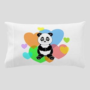 Panda Hearts Pillow Case