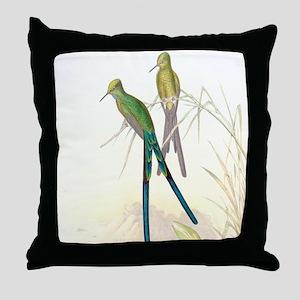 Swordtail Hummingbirds Throw Pillow