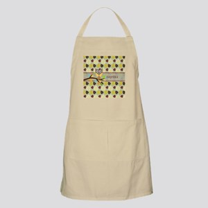Owl On Branch Over Leaves Personalized Apron