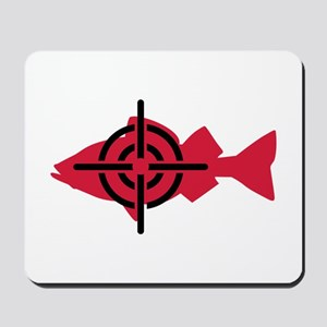 Fishing hunter crosshairs Mousepad