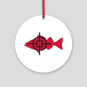 Fishing hunter crosshairs Ornament (Round)