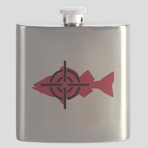 Fishing hunter crosshairs Flask