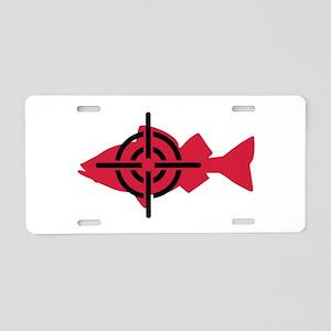 Fishing hunter crosshairs Aluminum License Plate