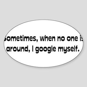 Google Myself Oval Sticker