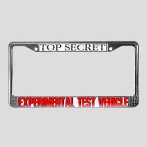 Test Vehicle License Plate Frame