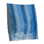 La Mer Bleu Burlap Throw Pillow