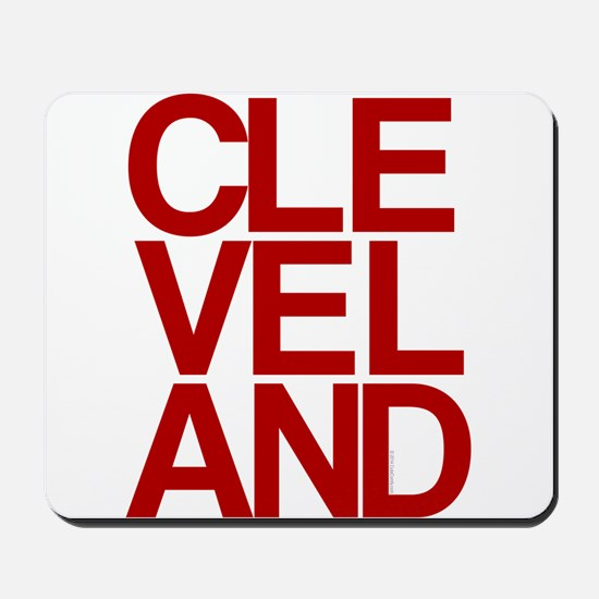 Cleveland Red Bold Typographic Mousepad