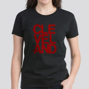 Cleveland Red Bold Typographic T-Shirt