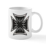 Chrome Flame Biker Cross Mug