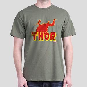 Thor Red Silhouette Dark T-Shirt