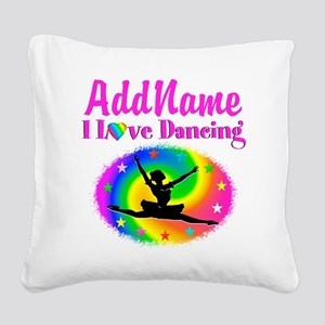 DAZZLING DANCER Square Canvas Pillow