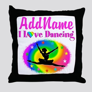 DAZZLING DANCER Throw Pillow