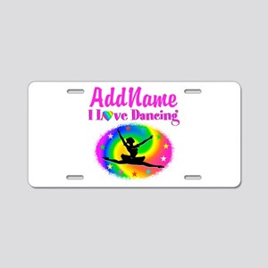 DAZZLING DANCER Aluminum License Plate