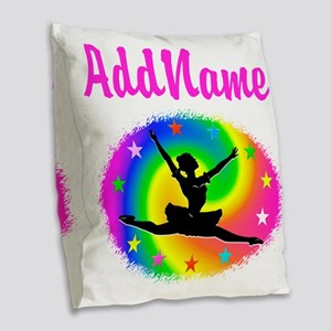 DANCING PRINCESS Burlap Throw Pillow