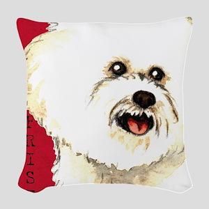 Bichon Frise Woven Throw Pillow
