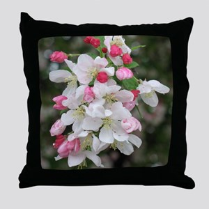 Cherry Blooms Throw Pillow