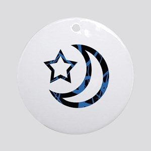 Moon and Star Ornament (Round)