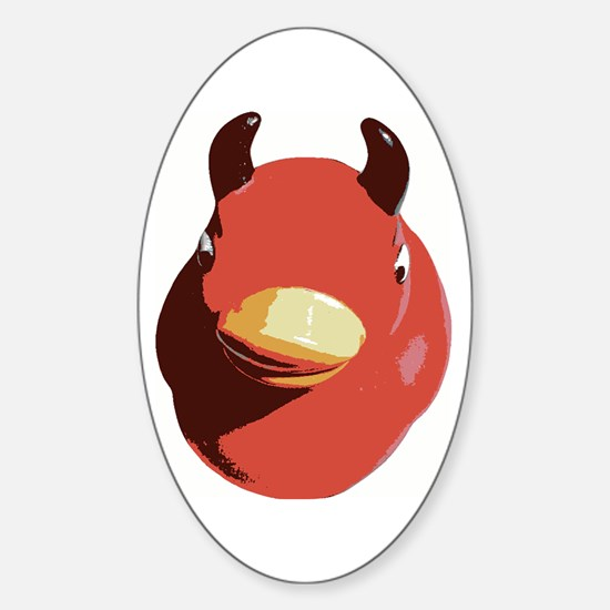 Evil Rubber Ducky Oval Decal