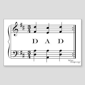 dad (piano) Rectangle Sticker
