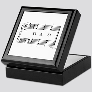 dad (piano) Keepsake Box
