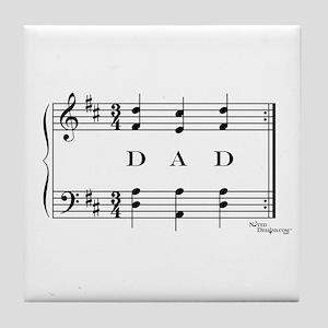 dad (piano) Tile Coaster