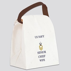 USN senior wife Canvas Lunch Bag