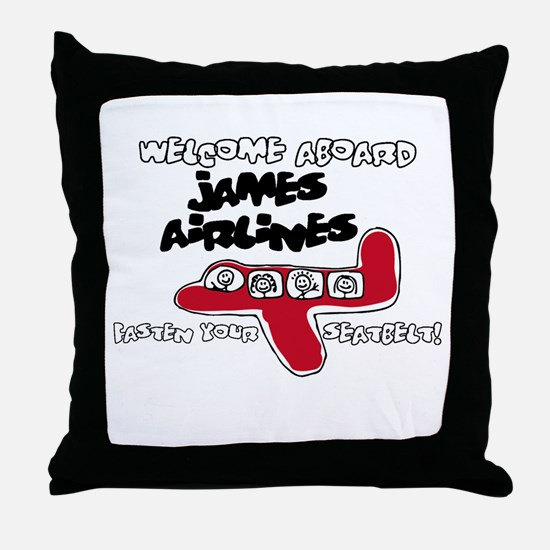 James Airlines Throw Pillow