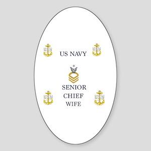 Senior wife Sticker (Oval)