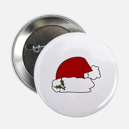 "Santa Hat 2.25"" Button"