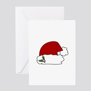 Santa Hat Greeting Cards