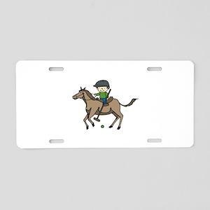 Horse Polo Aluminum License Plate