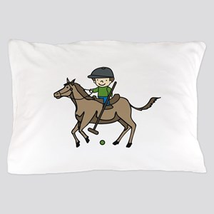 Horse Polo Pillow Case