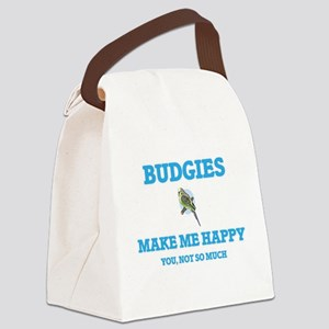 Budgies Make Me Happy Canvas Lunch Bag