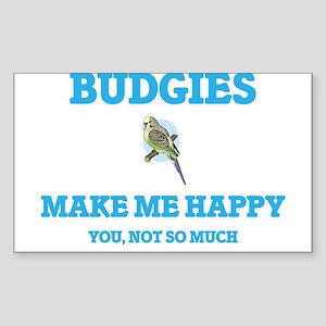 Budgies Make Me Happy Sticker