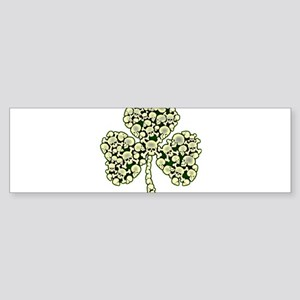 Shamrock Skulls St Patricks Day Bumper Sticker