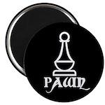 Black Pawn Magnet