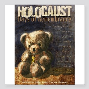 "Holocaust Remembrance Da Square Car Magnet 3"""