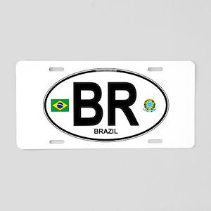 Brazil Intl Oval Aluminum License Plate